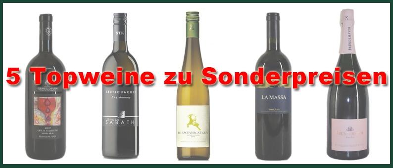 5 Topweine zum Sonderpreis