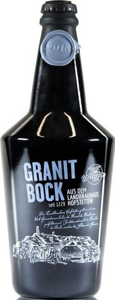 Hofstettner Granitbock, 0,75, Brauerei Hofstetten