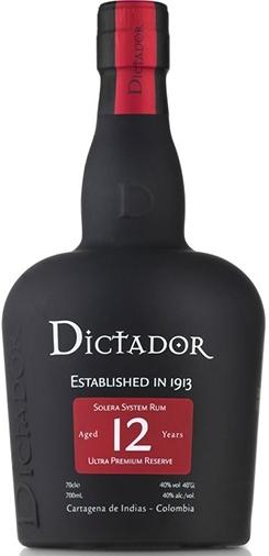 Dictador Rum 12 year ultra Premium Reserve in Geschenkbox mit 2 Gläsern NV