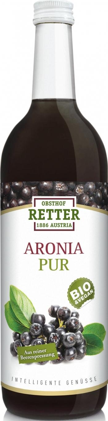 Aronia pur, BIO 100% Direktsaft, 0,75, Retter