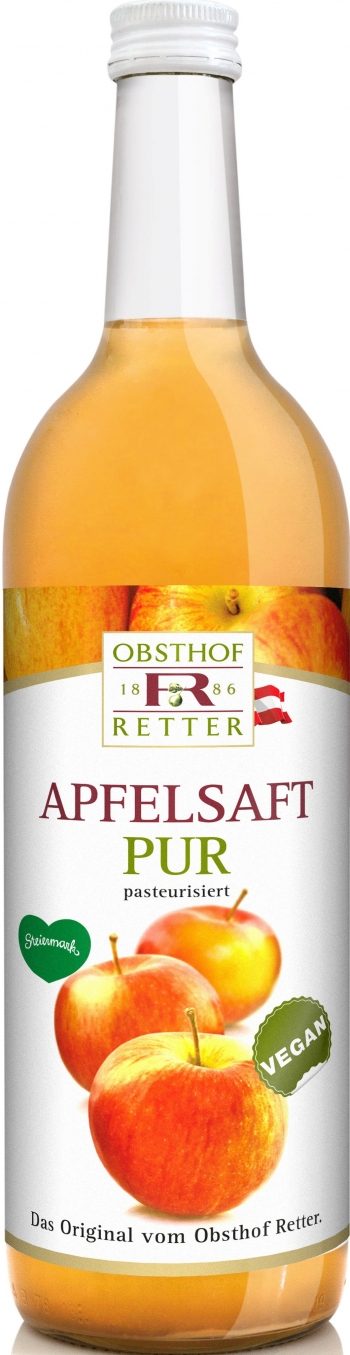 Apfelsaft pur, 100% Direktsaft, 0,75Lt, Retter