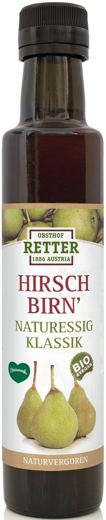 Hirschbirn Naturessig, 250ml Retter