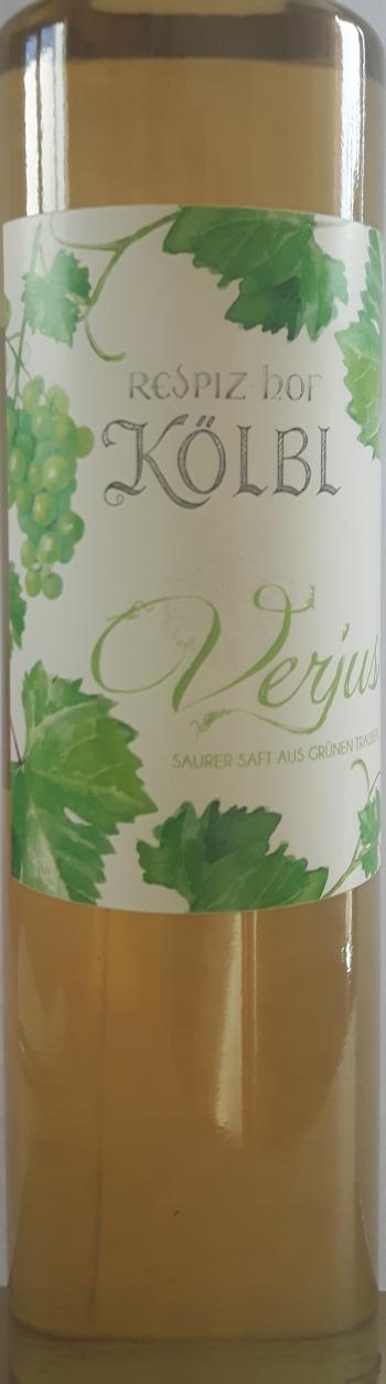 Verjus, Saft aus grünen Trauben, 500ml, Kölbl