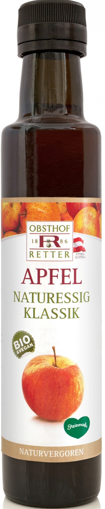 Apfel Naturessig Bio, 250ml, Retter