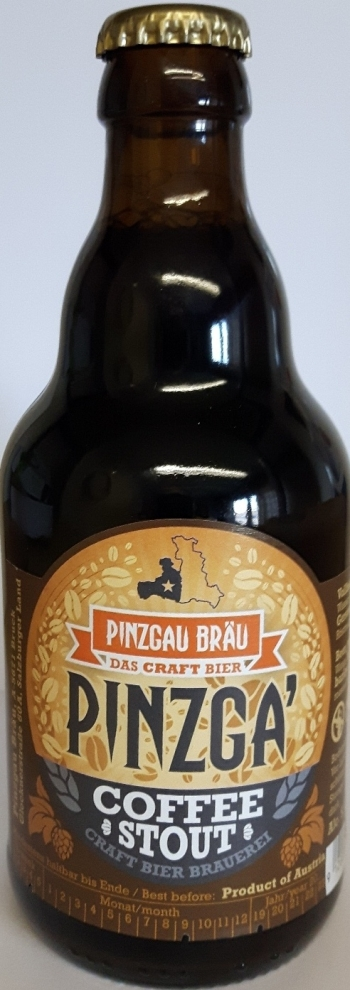 Pinzga Bräu Coffee Stout, 0,33 Lt NV