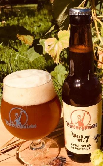 Bierschmiede Werk Nr.7, Junghopfen, 0,33lt  Bierschmiede 2019