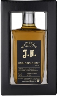 Dark Single Malt Peated J.H.Whisky, 0,5 Lt.,  Haider NV