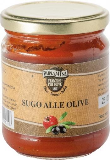 Sugo di pomodoro alle olive, 180g, Bonamini