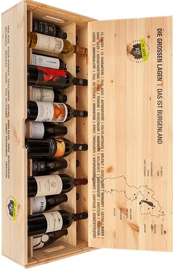 RWB Jubiläumsholzkiste 25 Jahre Renommierte Weingüter Burgenland, Gesellmann 2015 - 2017