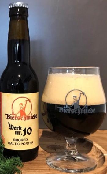 Bierschmiede Werk Nr.10, Smoked Baltic Porter. 0,33lt  Bierschmiede 2021